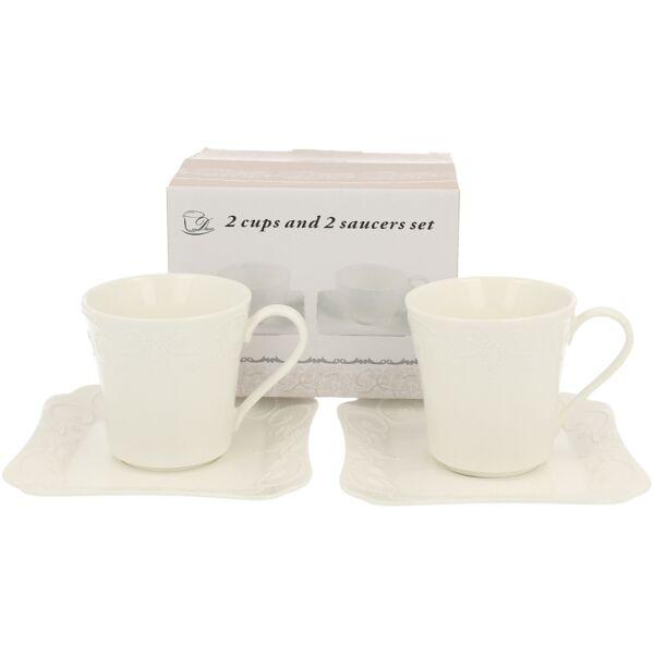 D.G.00641-ING Porcelán csésze + alj 2 személyes, dobozban, 200ml, Ing