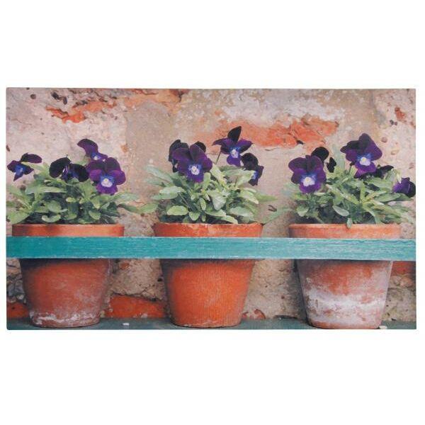 Virágos lábtörlő - Cipős szőnyeg, 75 x 45 cm