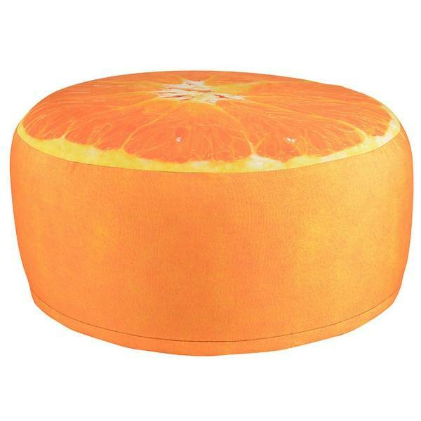 Narancs mintás puff
