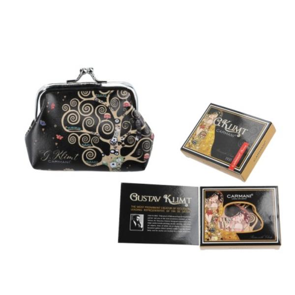 H.C.021-3513 Műbőr pénztárca 9x7,5x2cm, Klimt: Életfa