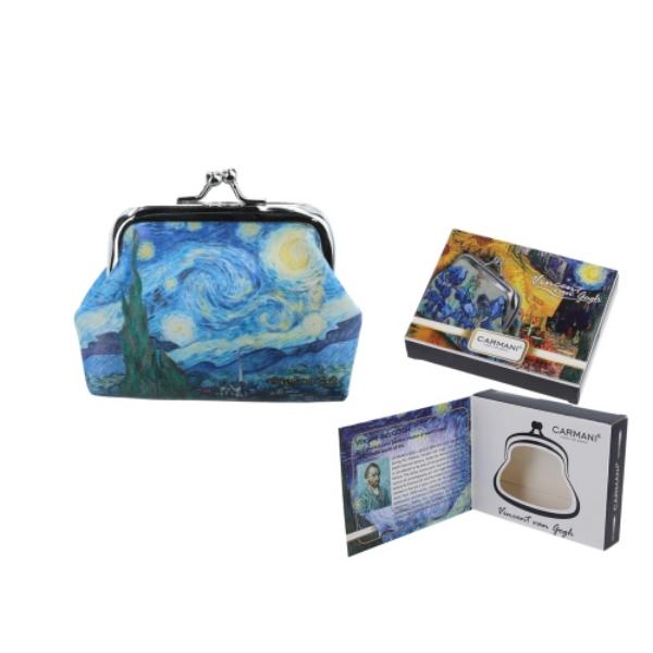 H.C.021-3710  Műbőr pénztárca 9x7,5x2cm, Van Gogh: Csillagos Éj