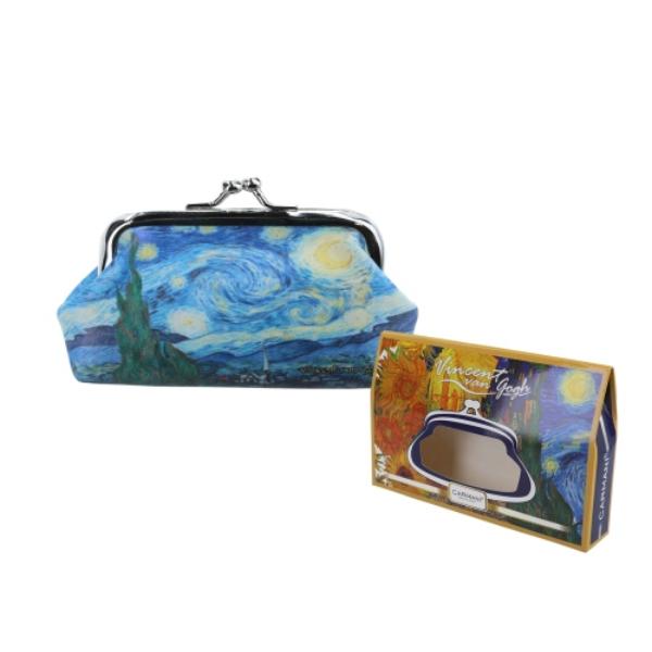 H.C.021-4710  Műbőr pénztárca 20x10x10 cm, Van Gogh: Csillagos éj