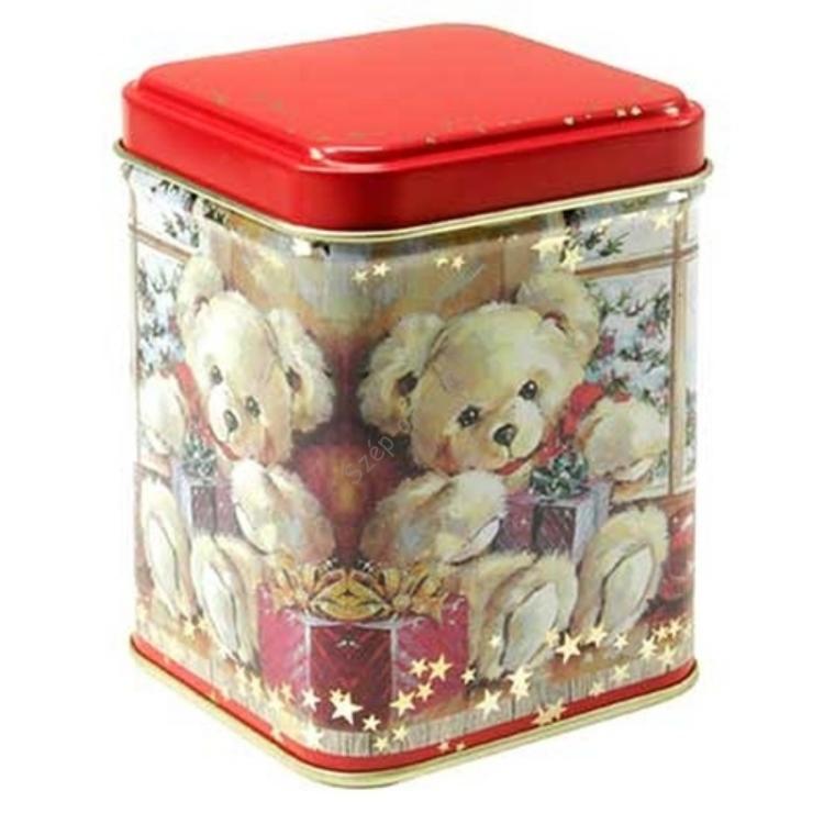 T.M.61541728 Teddy Bear konyhai fémdoboz 71x71x93mm