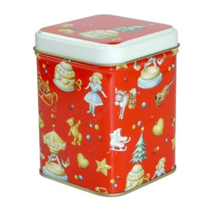 T.M.4981728 Nostalgic Christmas red konyhai fémdoboz 71x71x93mm
