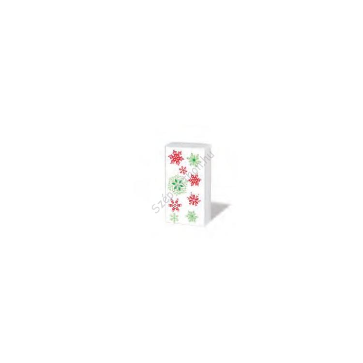 PPD.SNIFF050676 Snowflakes papírzsebkendő,10db-os