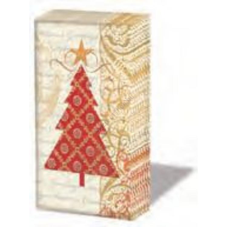 PPD.SNIFF050946 Holiday Tree papírzsebkendő,10db-os