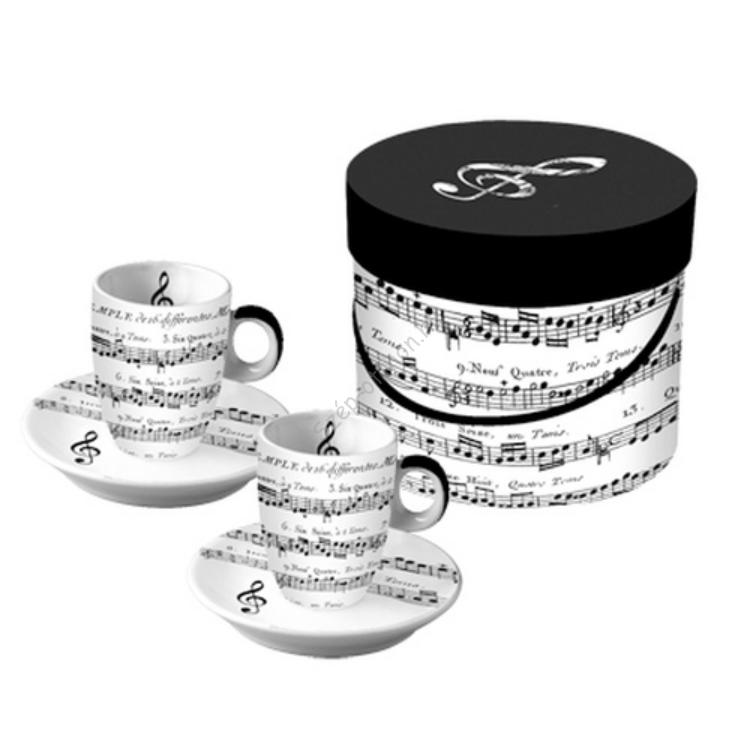 PPD.P601342 Porcelán espressós csésze tányérral 0,1l,2 személyes dobozban ,Adagio