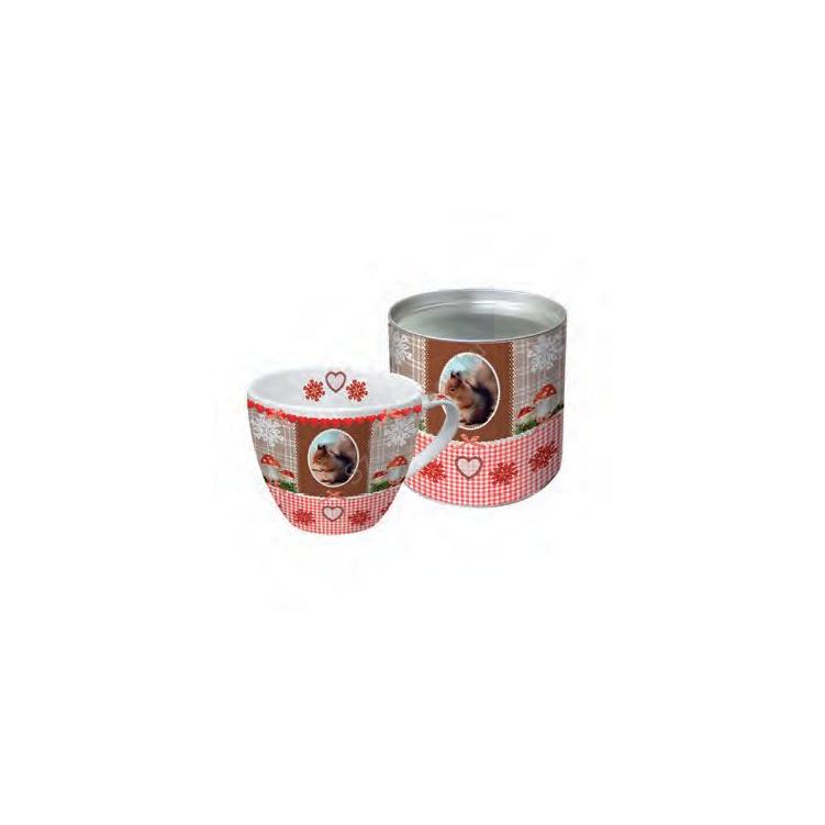 PPD.M602110 Porcelán bögre 0,2l , dobozban, Vintage Squirrel