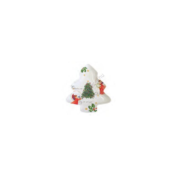 PPD.M602156 Porcelán fenyőfa formájú tálka 23,5cm, Christmas Eve