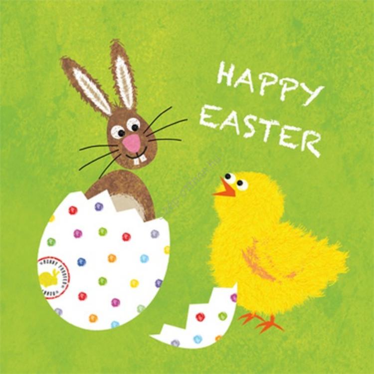PPD.C1331880 Easter Buddies green papírszalvéta 33x33cm,20db-os