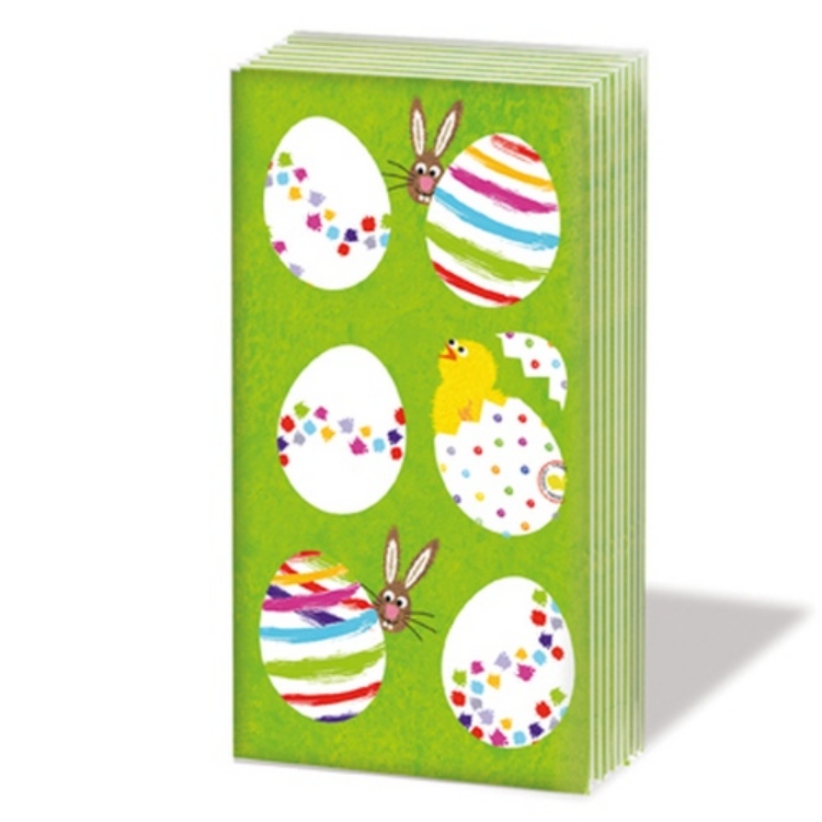 PPD.SNIFF051598 Eggs allover papírzsebkendő,10db-os