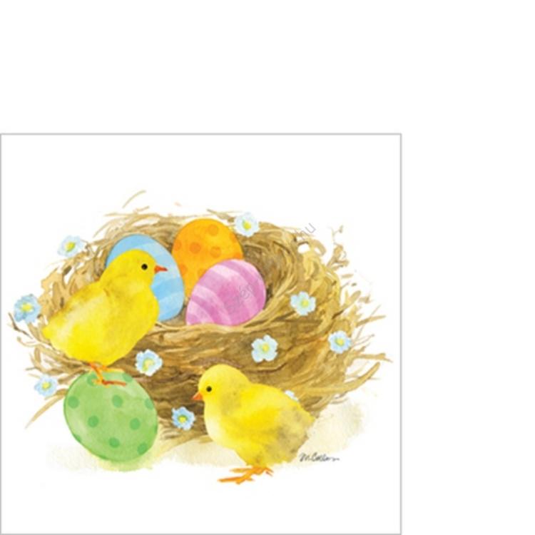 PPD.B1252347 Chicks & Eggs papírszalvéta 25x25cm,20db-os