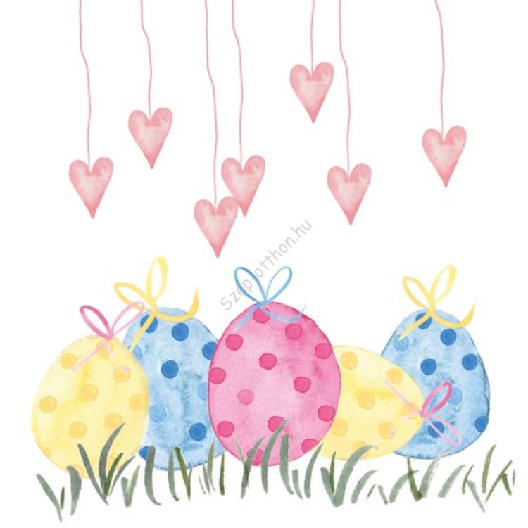 Lovely Easter papírszalvéta 33x33cm, 20db-os