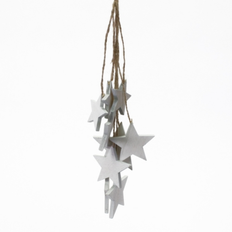 W.V.37069 Csillagcsokor függődísz,fa,26cm