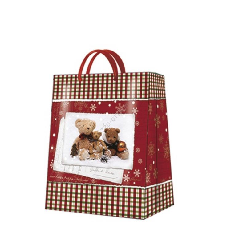P.W.AGB019905 Teddy Bear Family papír ajándéktáska large 26,5x33x13,5cm