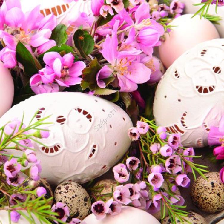 P.W.SDL877013 Pink Easter papírszalvéta 33x33cm,20db-os