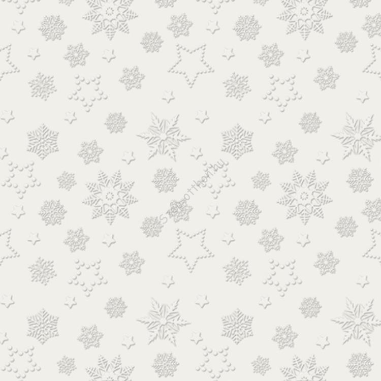 P.W.SDL251000 Winter Flakes pearl papírszalvéta 33x33cm,20db-os