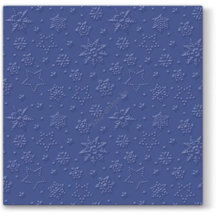 P.W.SDL251005 Inspiration Winter Flakes navy blue papírszalvéta 33x33cm, 20db-os