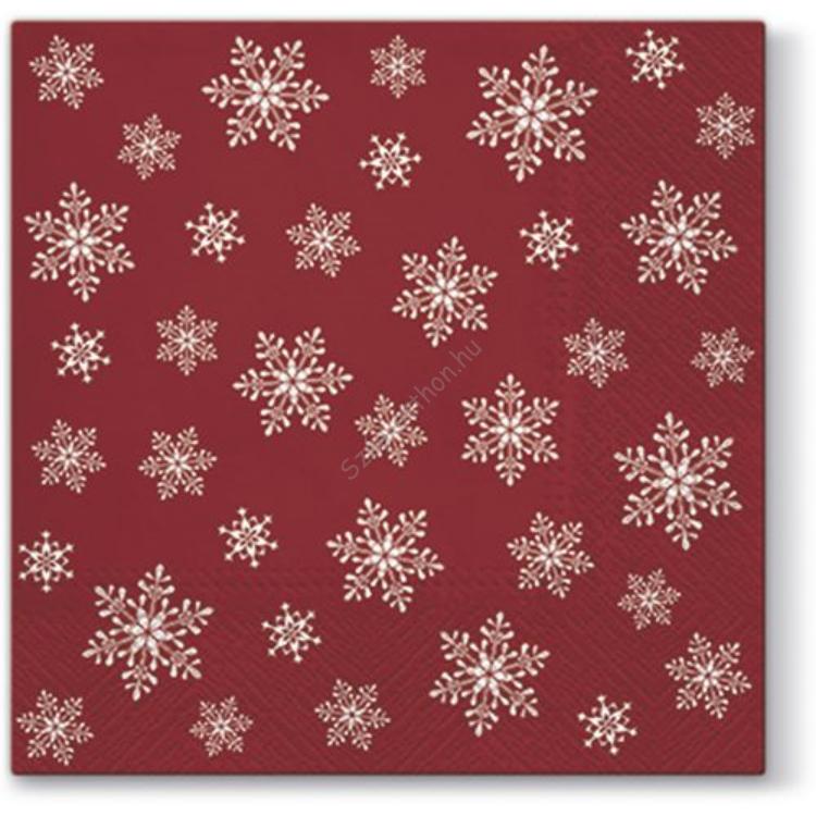 P.W.SDC095003 Stars Everywhere red papírszalvéta 25x25cm, 20db-os