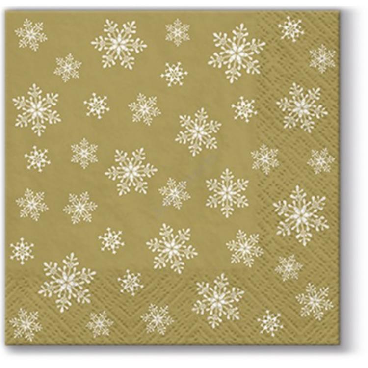 P.W.SDC095009 Stars Everywhere gold papírszalvéta 25x25cm, 20db-os