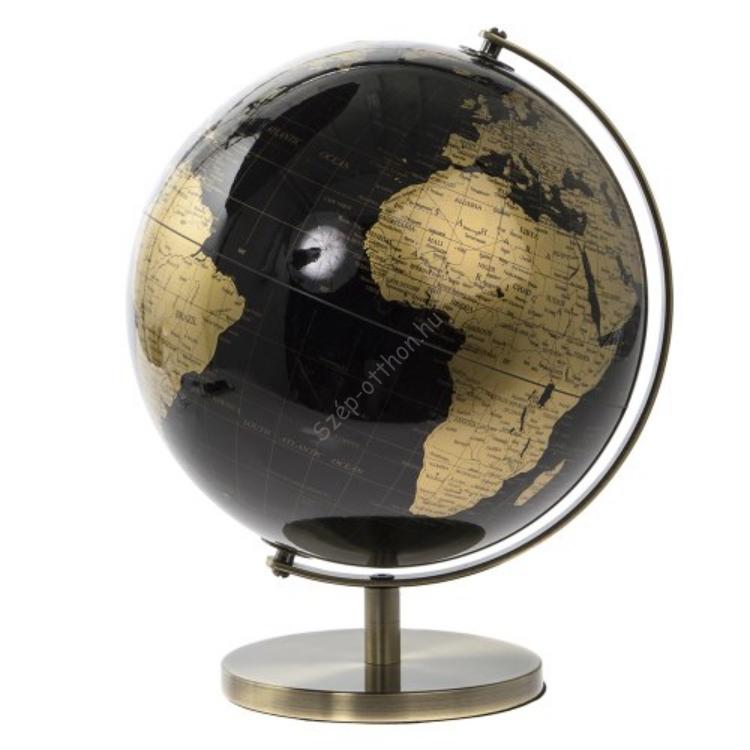 T.L.C.LP42200 Földgömb arany-fekete, 26x26x34cm, fém-műanyag