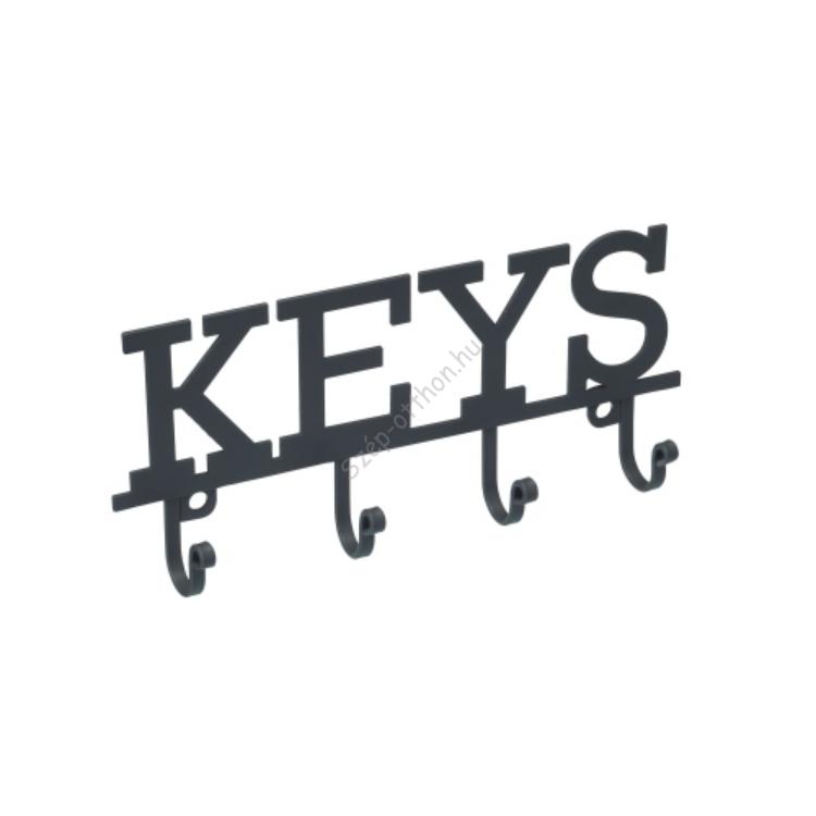 K.C.LNKEYHOOK Fém kulcsos fogas, 19x2,5x8cm, Living Nostalgia