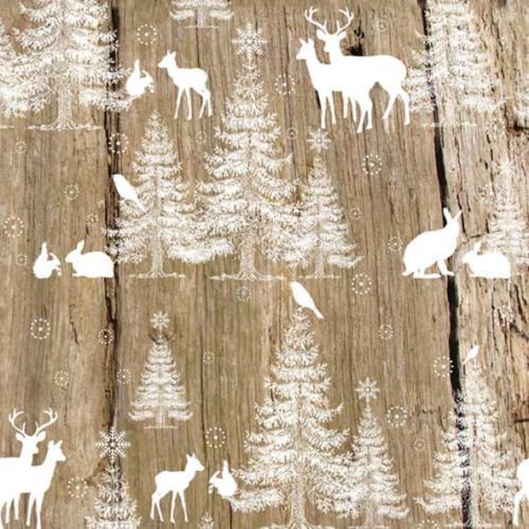 AMB.33304460 In The Woods papírszalvéta 33x33cm,20db-os