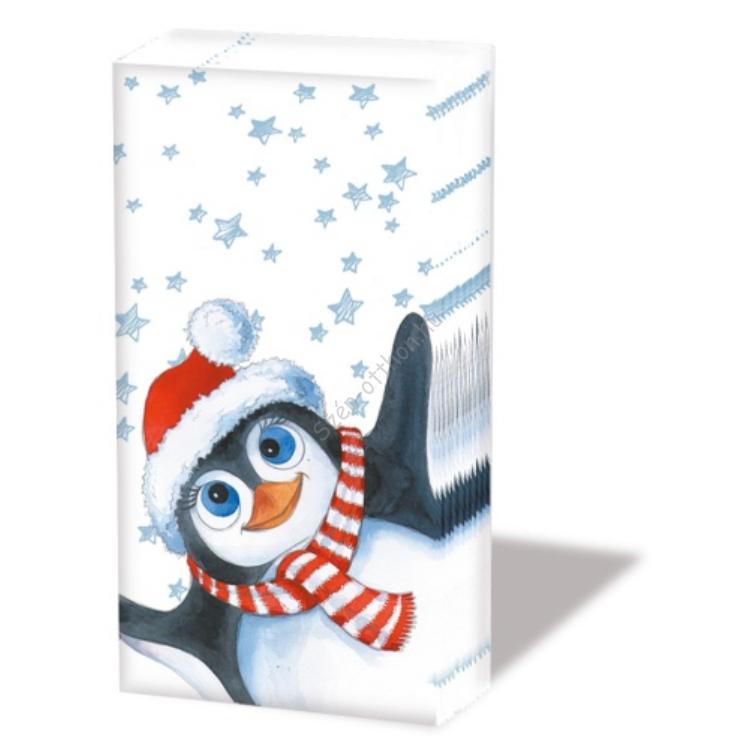 AMB.32204430 Eddy the Penguin papírzsebkendő,10db-os