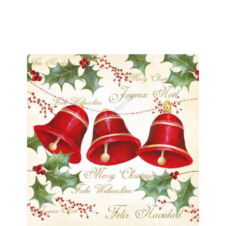 AMB.32504085 Three Bells papírszalvéta 25x25cm,20db-os