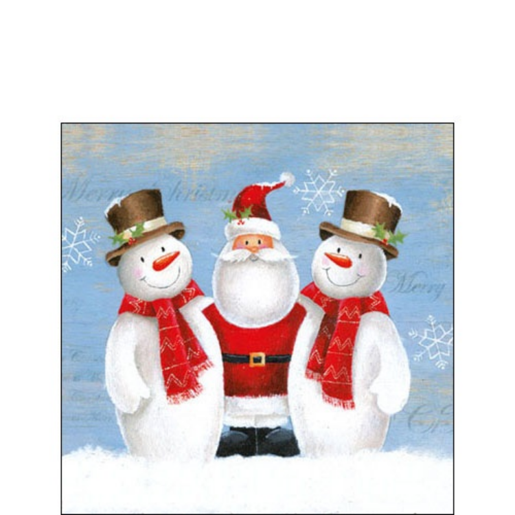 AMB.32503995 Santa With Friends papírszalvéta 25x25cm,20db-os