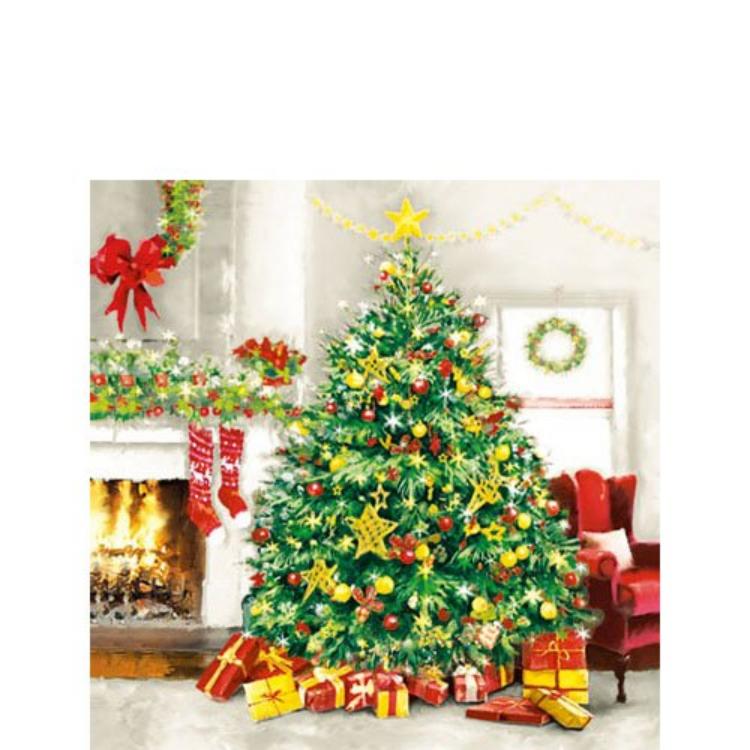 AMB.32503985 Christmas is all Around papírszalvéta 25x25cm,20db-os