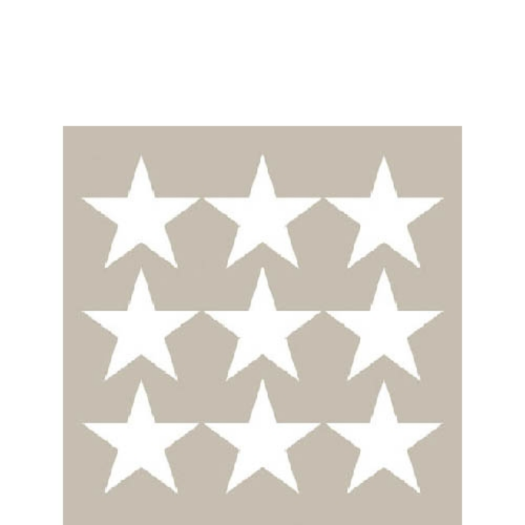 AMB.32504052 Stars negative sand papírszalvéta 25x25cm,20db-os