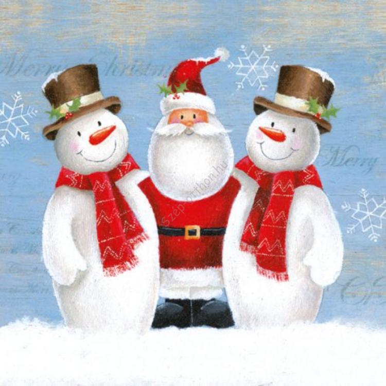 AMB.33303995 Santa With Friends papírszalvéta 33x33cm,20db-os