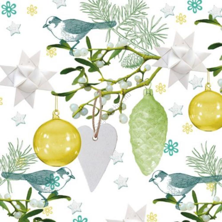 AMB.33304665 Christmas Collection papírszalvéta 33x33cm,20db-os
