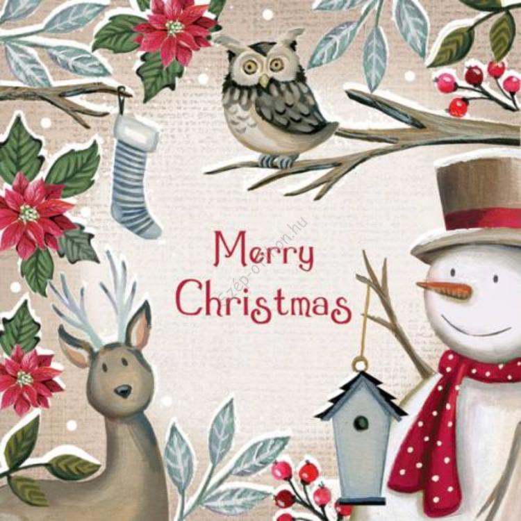 AMB.33304700 Season Greetings papírszalvéta 33x33cm,20db-os