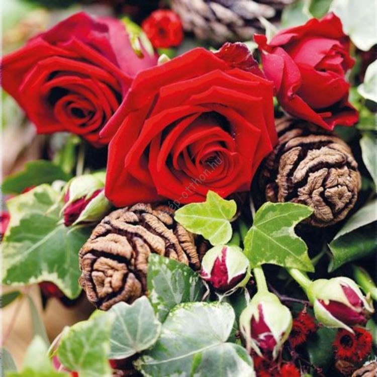 AMB.13308770 Roses papírszalvéta 33x33cm, 20db-os