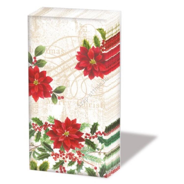 AMB.32204530 Pointsettie cream papírzsebkendő,10db-os