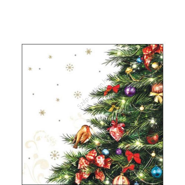 AMB.32504685 Robin in Tree papírszalvéta 25x25cm,20db-os