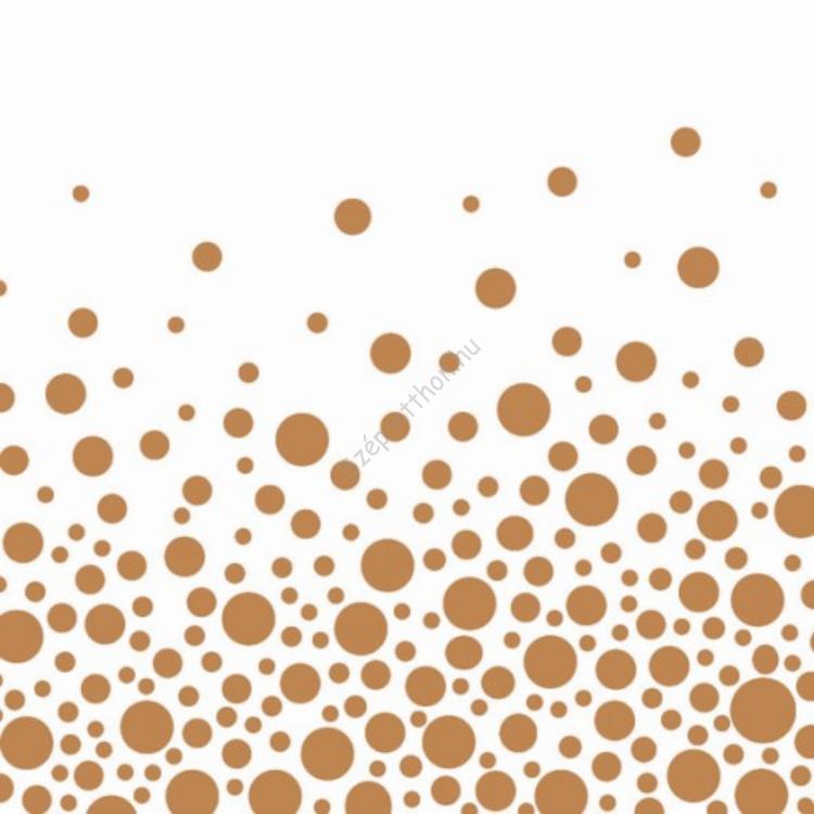 AMB.13308823 Sparkling Dots Copper papírszalvéta 33x33cm, 20db-os