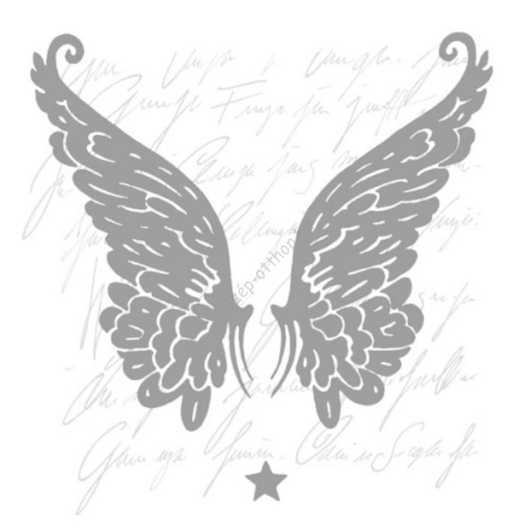 AMB.33304806 Wings silver papírszalvéta 33x33cm,20db-os