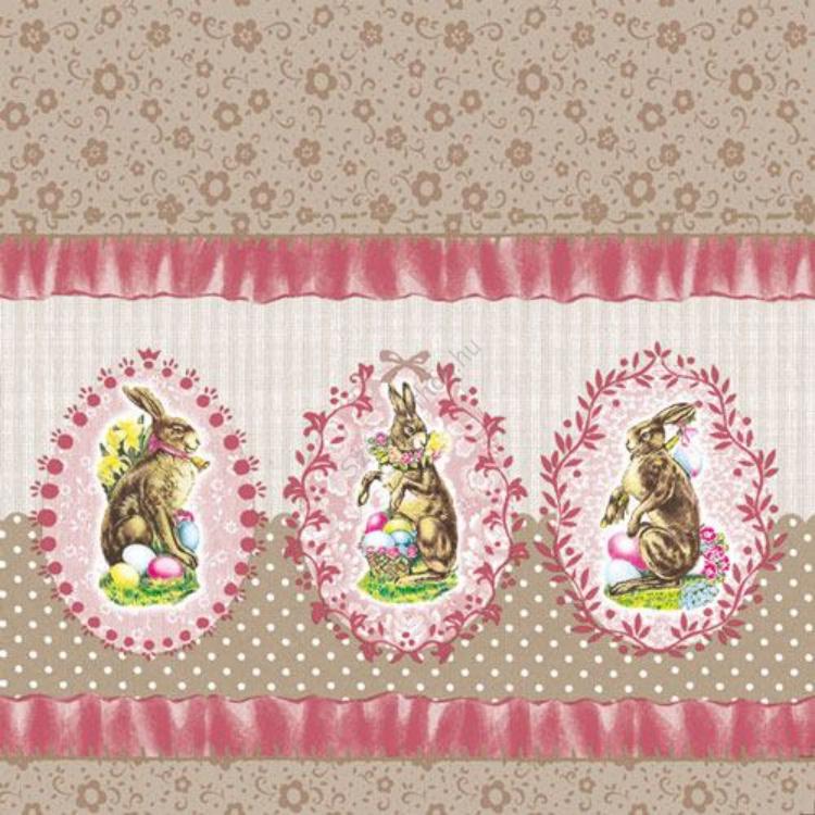 AMB.23301621 Nostalgic Easter Rose papírszalvéta 33x33cm,20db-os