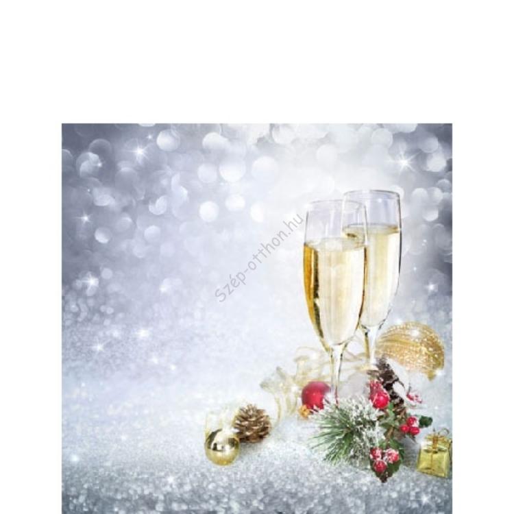 AMB.32505010 New Year's Eve papírszalvéta 25x25cm,20db-os