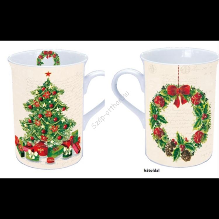 AMB.38604985 Christmas Tree porcelán bögre 0,25l