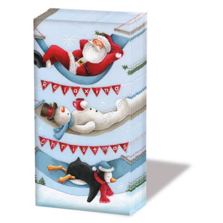 AMB.32205065 Relaxing Christmas papírzsebkendő,10db-os