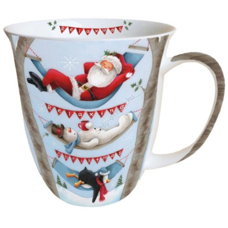 AMB.38405065 Relaxing Christmas porcelán bögre 0,4l
