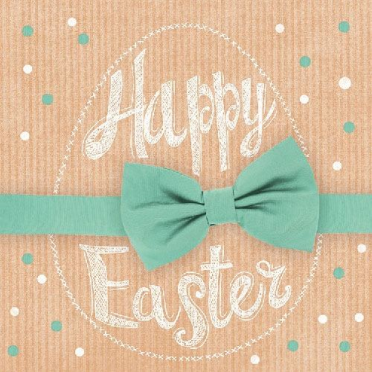 AMB.23301660 Happy Easter green papírszalvéta 33x33cm, 20db-os