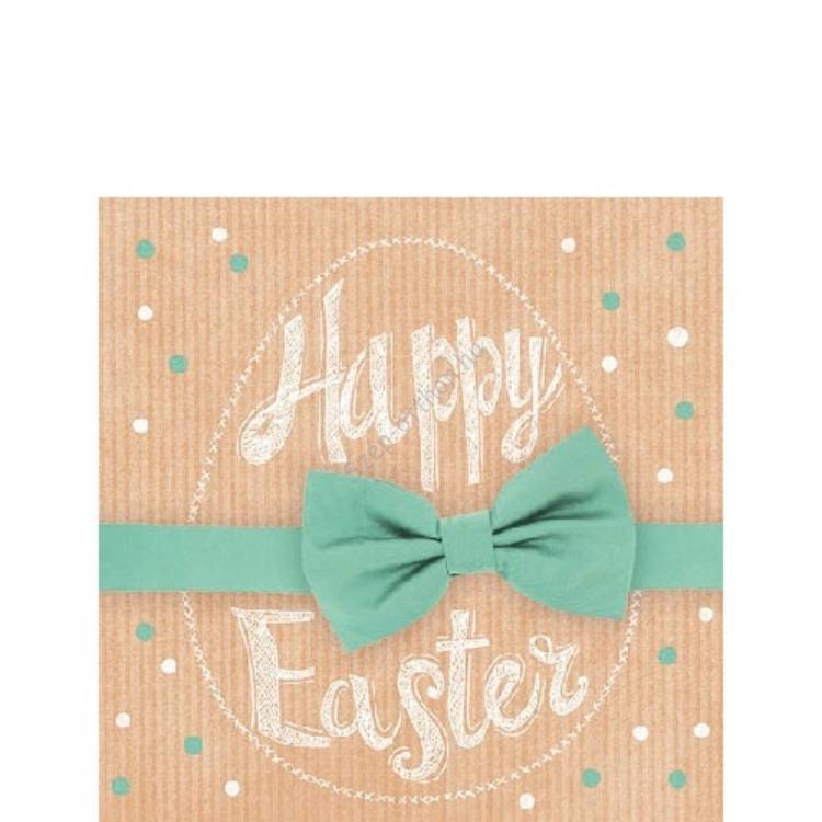 AMB.22501660 Happy Easter green papírszalvéta 25x25cm, 20db-os
