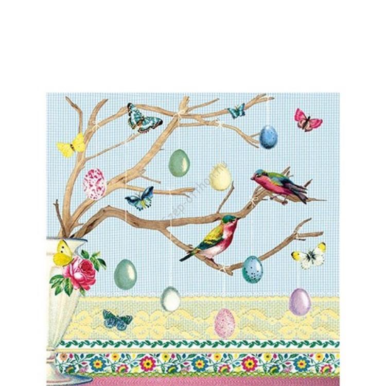 AMB.22501655 Easter Branch papírszalvéta 25x25cm, 20db-os