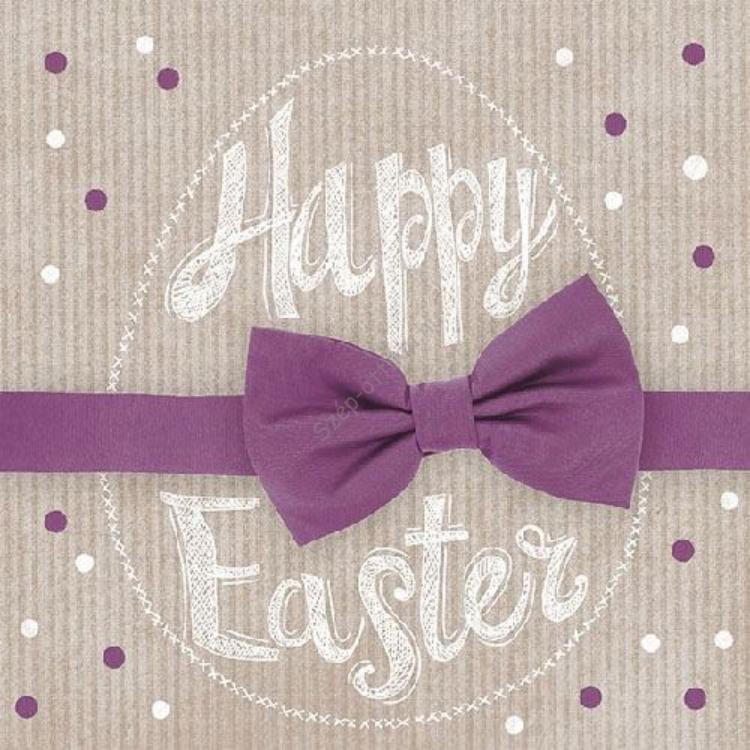 AMB.23301662 Happy Easter bordeaux papírszalvéta 33x33cm, 20db-os