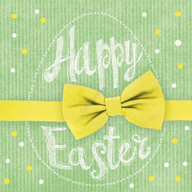 AMB.23301661 Happy Easter yellow papírszalvéta 33x33cm, 20db-os